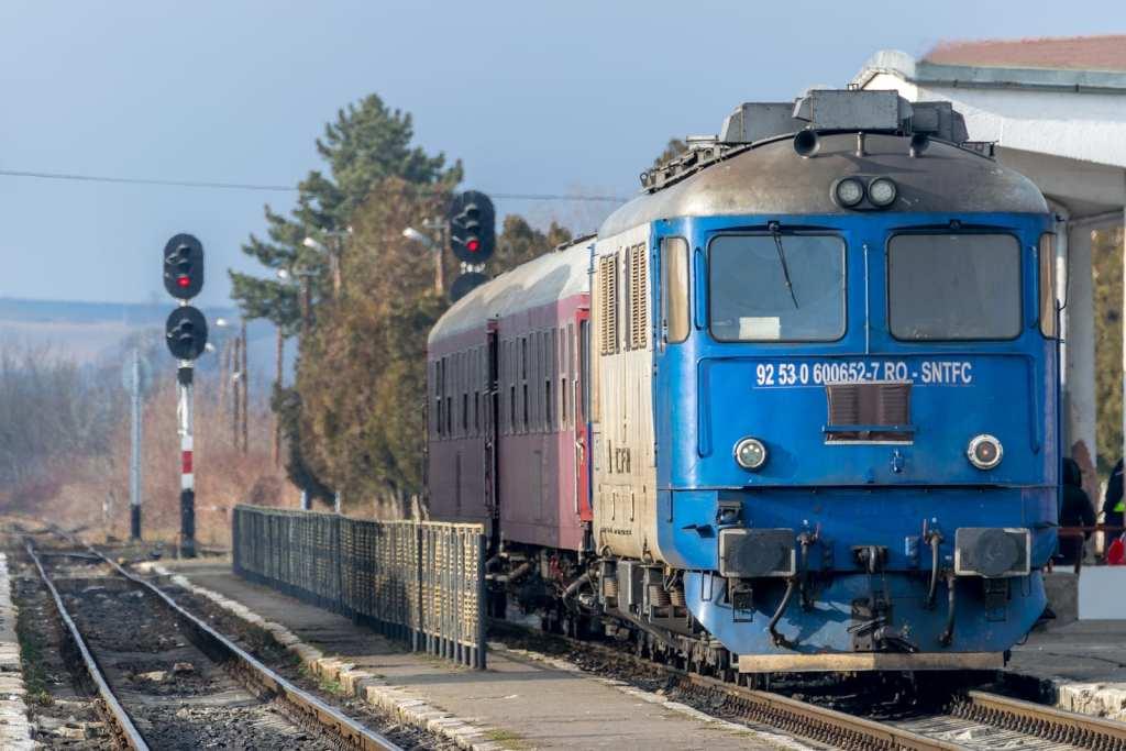Romanian train in Sibiu Station