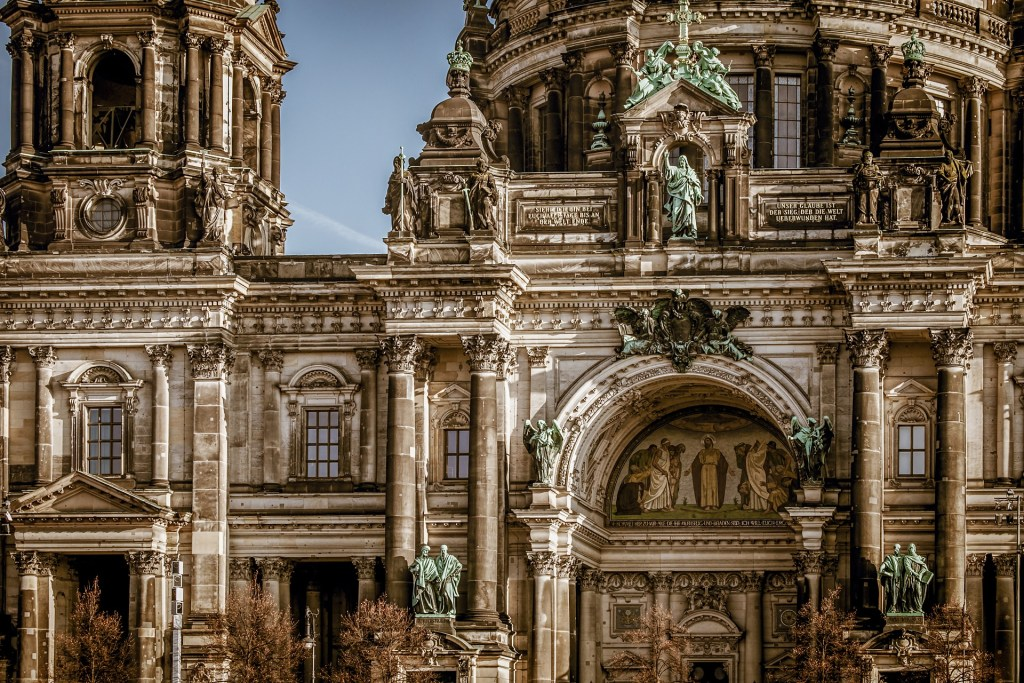Detail close-up of Berlin Cathedral in Germany.