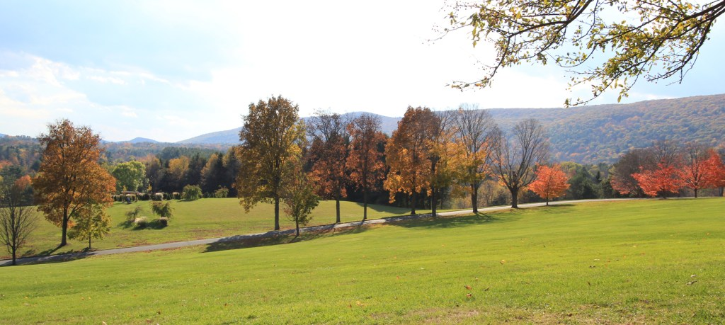 Kripalu Center Grounds in the Berkshires, Massachusetts - one of the best day trips from Boston.
