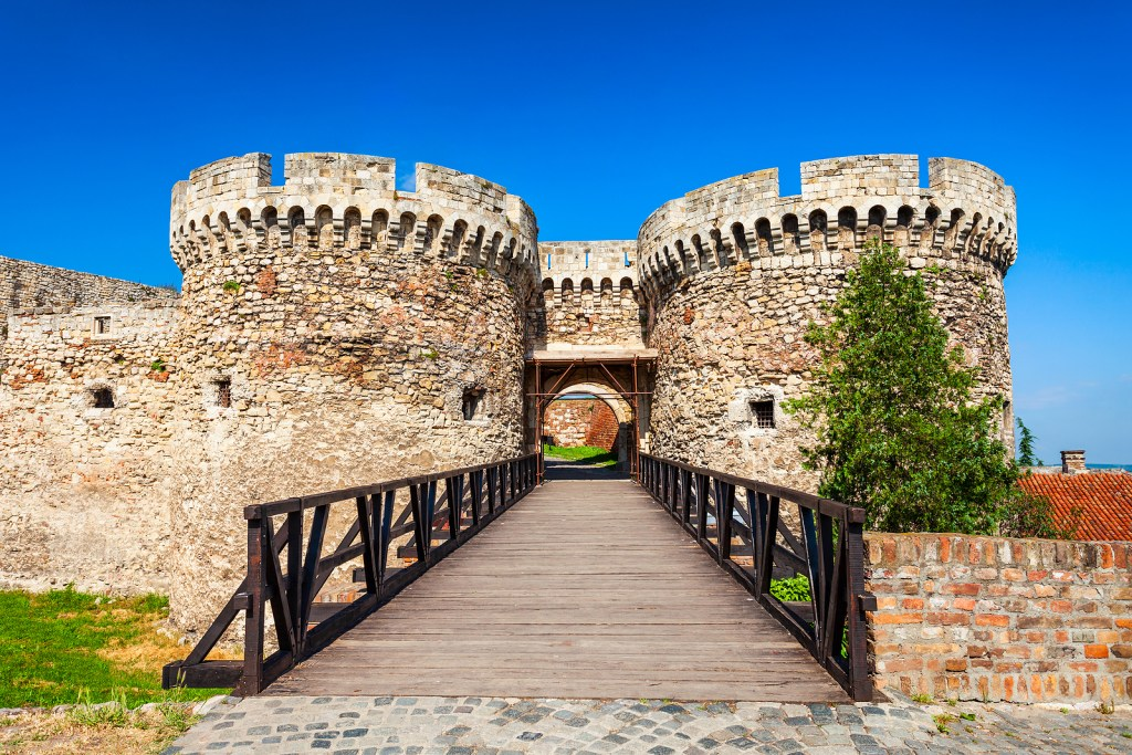 Zindan Gate at Belgrade Fortress in Serbia.