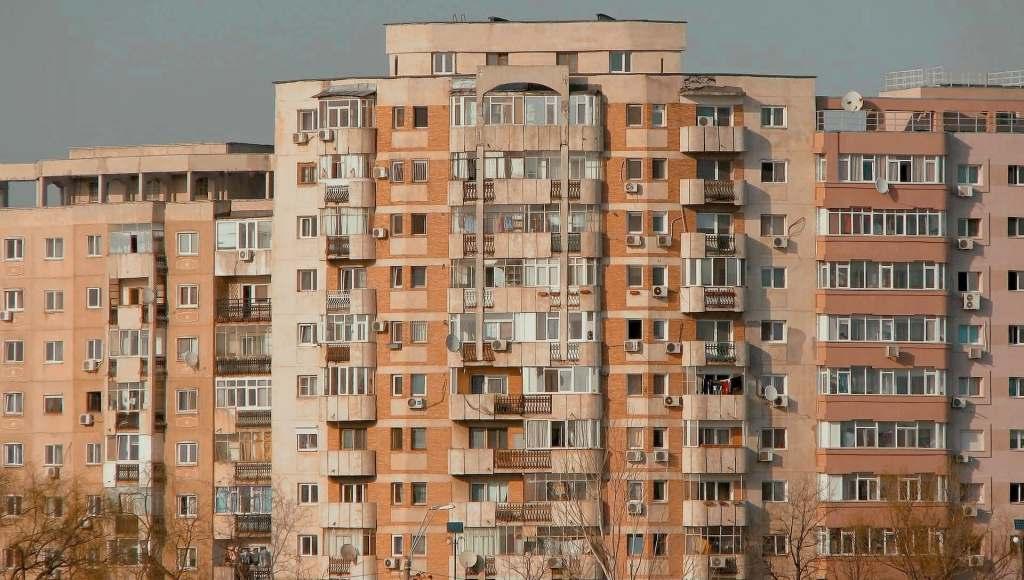 Bloc apartments in Bucharest, Romania