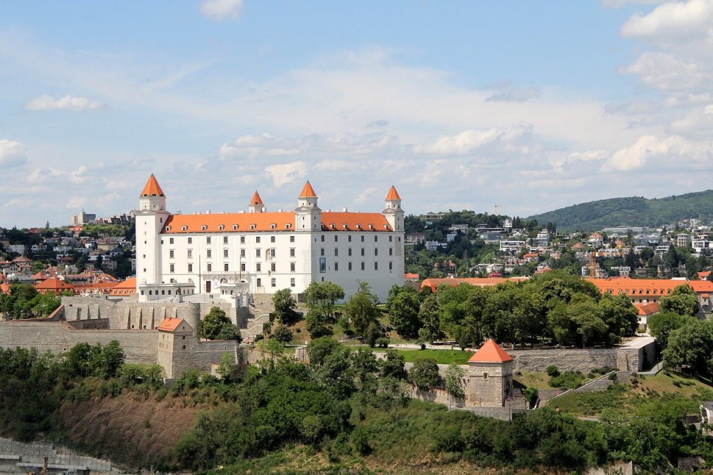 Bratislava Castle in the Slovak capital, a great day trip from Budapest.