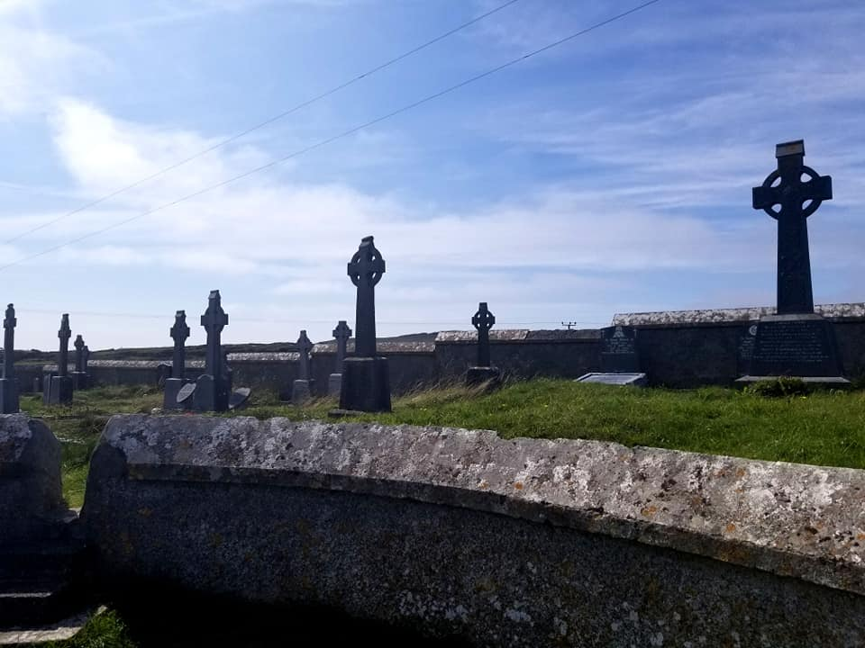 Irish crosses in Inis Mor, Ireland