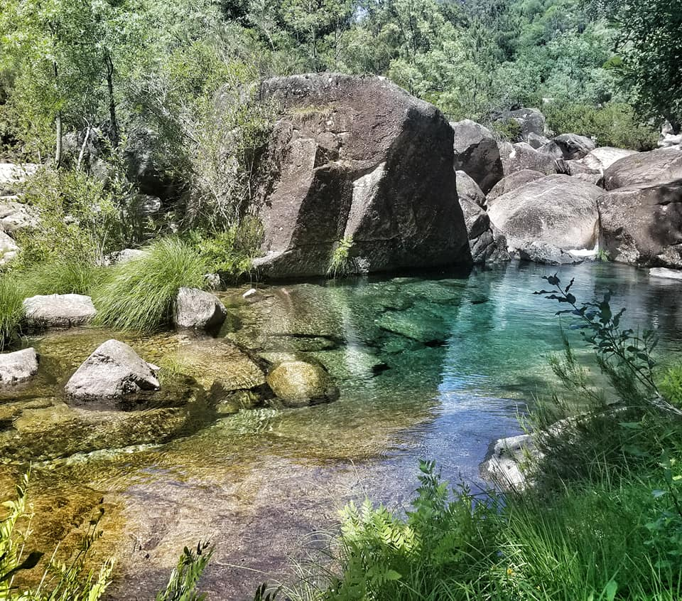 Shallow lagoon in Peneda-Geres National Park in Portugal