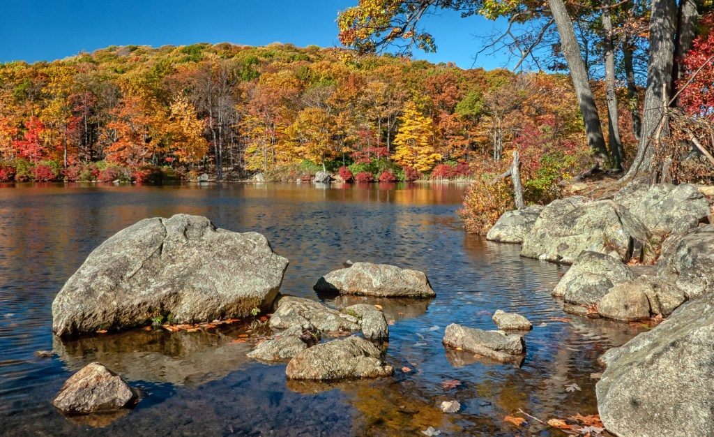 Harriman State Park, one of the best and easiest day trips to take form New York City.