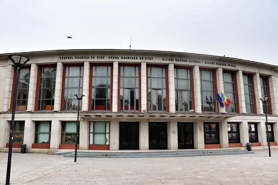 Exterior of the Hungarian Opera House in Cluj-Napoca, Romania
