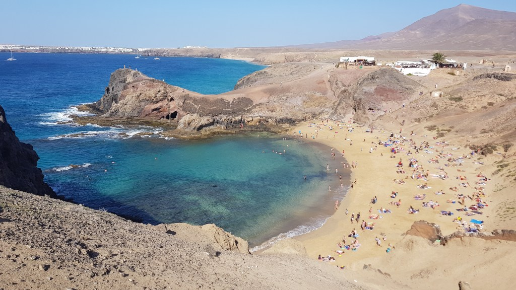 Papagayo Beach in Lanzarote, one of the Canary Islands in Spain.  Also one of Europe's most underrated beach destinations