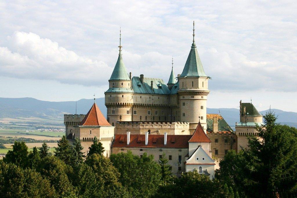Bojnice Castle from afar, the ultimate slovakia bucket list