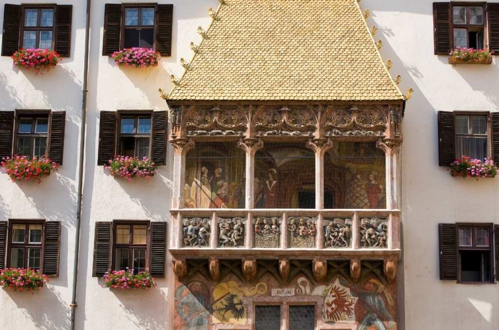 Golden Roof in Innsbruck, one of the top landmarks in Austria.