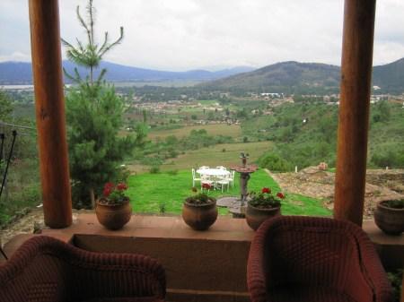 Hotel Ixhi patio view