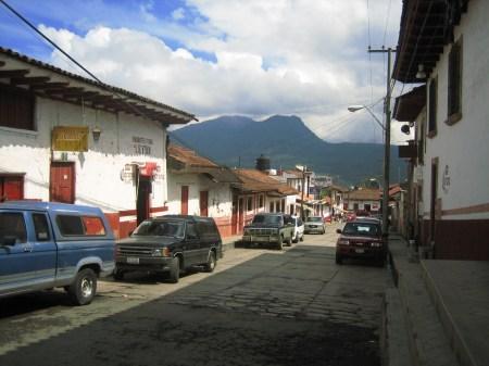A street in Santa Clara del Cobre