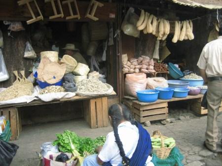 A stall from Patzcuaro's Sunday market