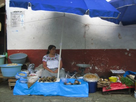 Patzcuaro market stall