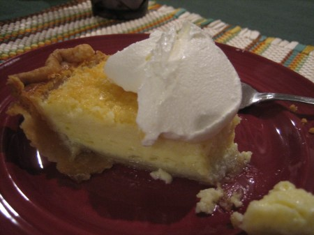 Buttermilk pie, made with love at Oma's House in Starr, South Carolina
