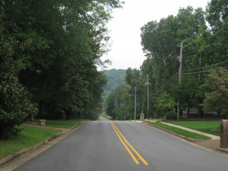 A residential street in Huntsville, Alabama