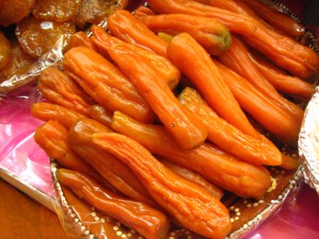 Candied carrots, sold at the Feria de Alfeñique in Toluca, Mexico