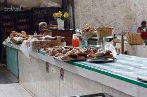 Sweet bread in Oaxaca's La Merced market. Photo by Lesley Téllez.