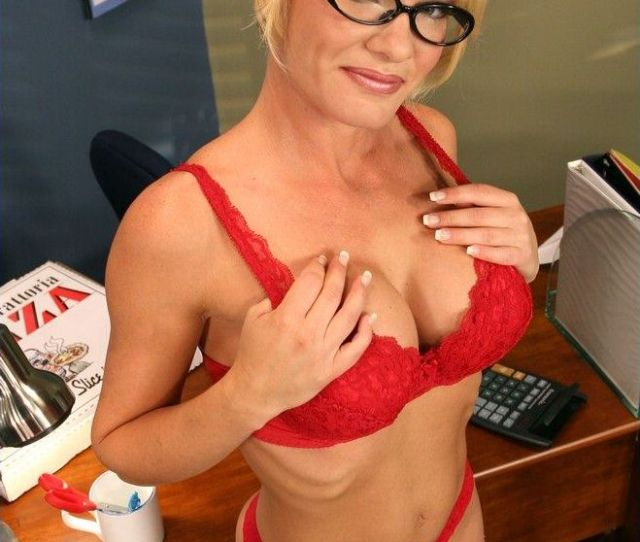 Hot Blonde Milf Teacher Takes Her Lingerie Off In The Classroom And Fucks Hard