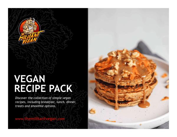 vegan recipe pack ebook cover