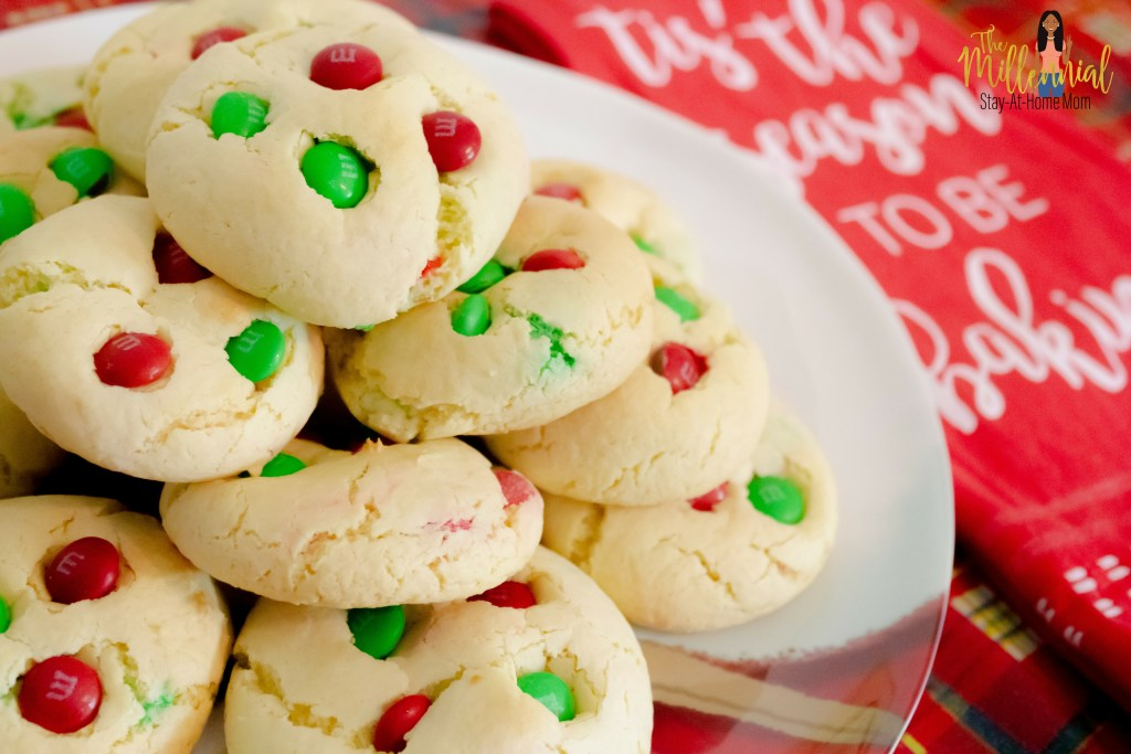 M M Cake Mix Christmas Cookies The Millennial Stay At Home Mom