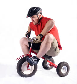 Image result for man on a tricycle pictures