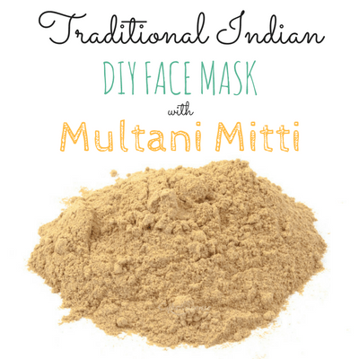 Inexpensive, Traditional Indian DIY Face Mask Using Multani Mitti