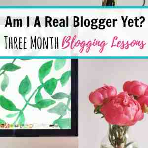 Am I A Real Blogger Yet? Three Month Blogging Lessons