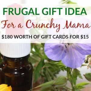 Frugal Gift Idea for a Crunchy Mom