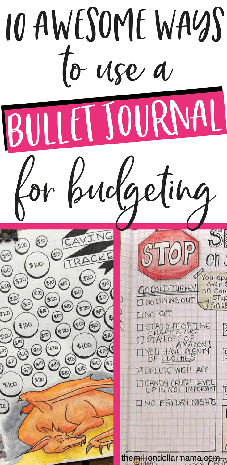 Bullet journal budget ideas - if you want to use a bullet journal to track your budget, pay down debt, save money etc., then you need to check out this post for bullet journal ideas and inspiration! #bulletjournal #bulletjournalideas