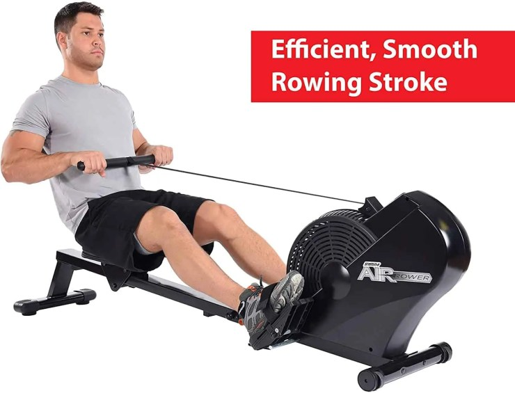 Stamina ATS Air Rower | Rowing Machine | LCD Monitor | Dynamic Air Resistance | Folding Design | Tone Muscle and Improve Heart Health