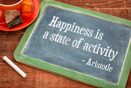 Happiness is a state of activity
