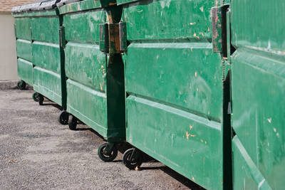Green dumpsters - Memories from Flynn Park