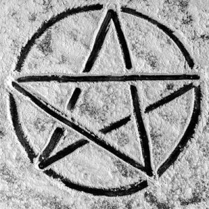 Black drawn pentagram - Nobody knows you fiction