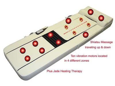Carepeutic Deluxe Full Body Synchronization Shiatsu Massage Mattress with Jade Heating Therapy