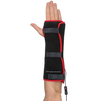 The Heated LED Wrist And Forearm Pain Reliever - Uses deep-penetrating LEDs and soothing warmth designed to relieve pain in the wrist and forearm
