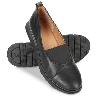 Ladys Plantar Fasciitis Leather Flats