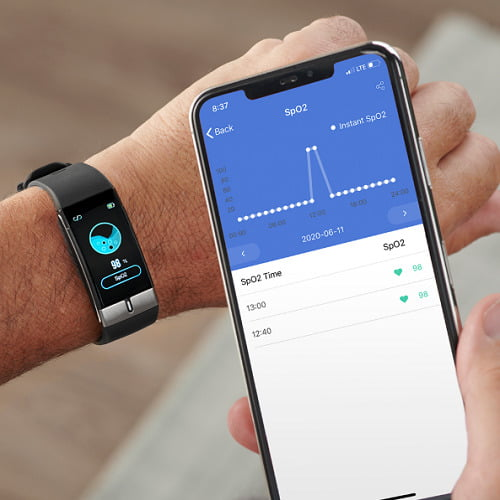 Blood Oxygen Tracking Watch