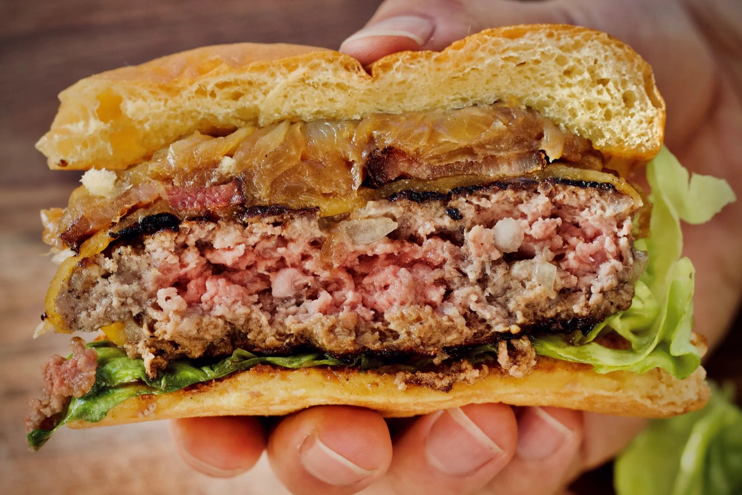 Juiciest Stovetop Burger With Bacon And Onion Recipe