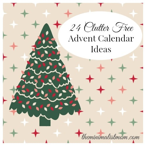 24 clutter free advent calendar gift ideas. Black Bedroom Furniture Sets. Home Design Ideas