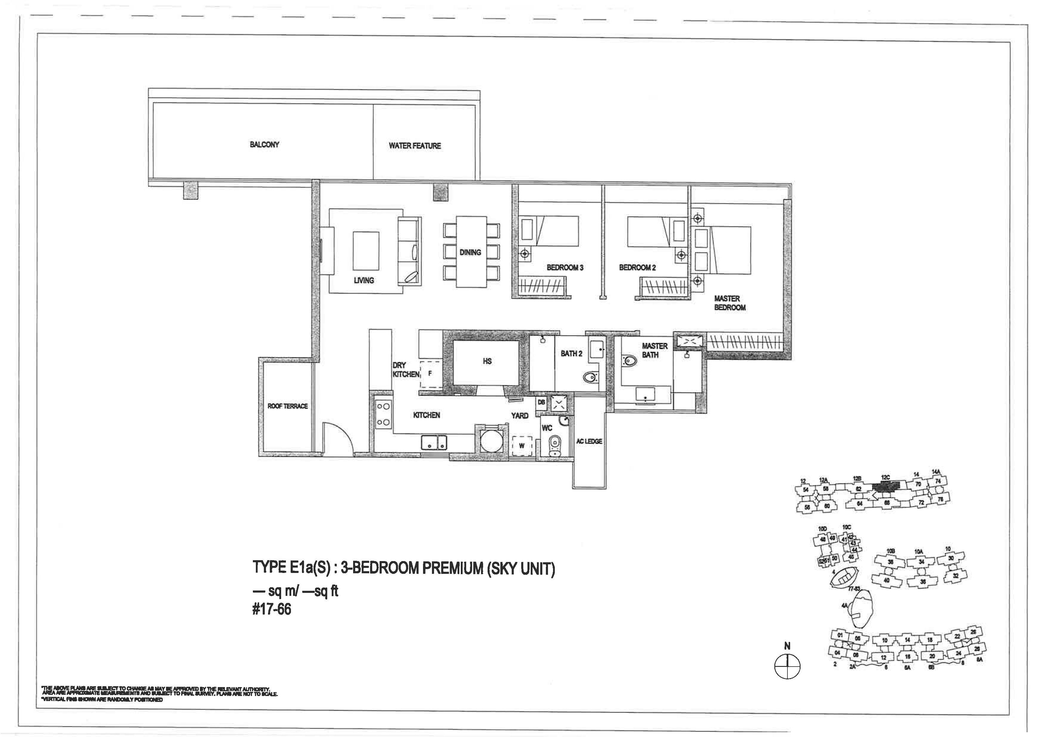 The Minton 3 Bedroom Premium Floor Plans Type E1a(S)