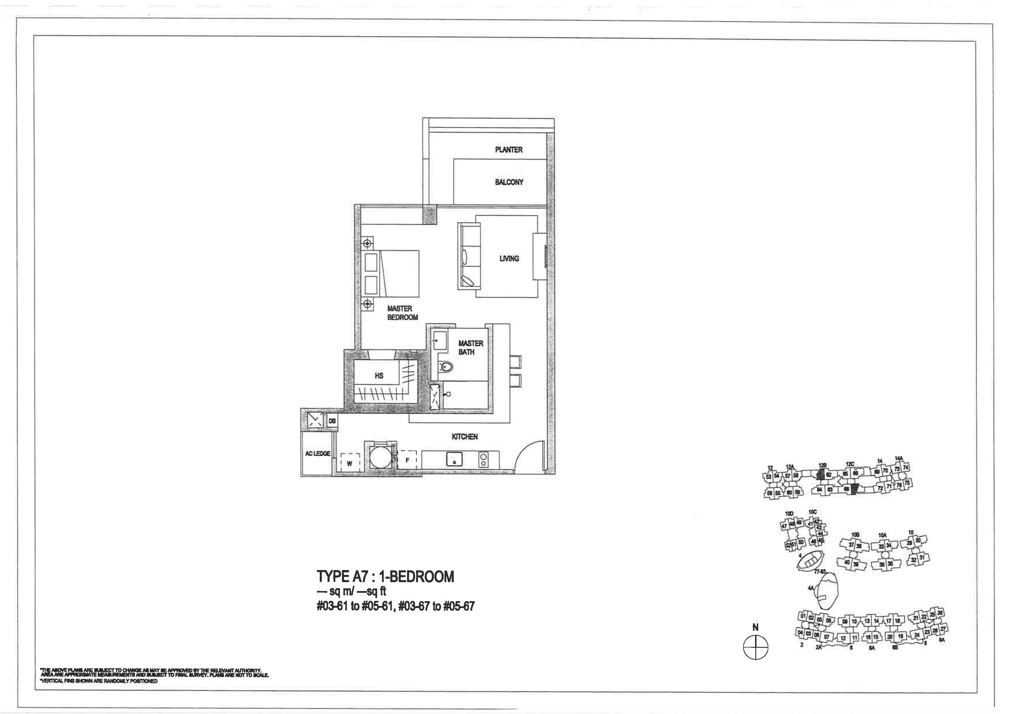 The Minton 1 Bedroom Floor Plans Type A7