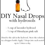 DIY Hydrosol Nasal Drops | Homemade Nose Drops Recipe