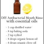 DIY Essential Oil Antibacterial Mouth Rinse