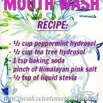 DIY Hydrosol Mouthwash with Tea Tree & Peppermint Hydrosols