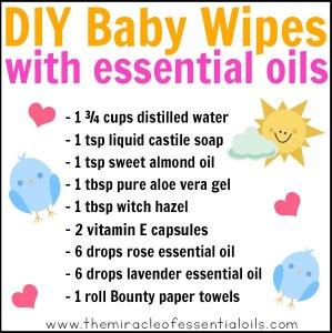 DIY Essential Oil Baby Wipes