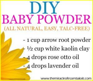 DIY Essential Oil Baby Powder