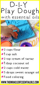 DIY Essential Oil Play Dough