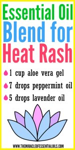 DIY Essential Oil Blend for Heat Rash
