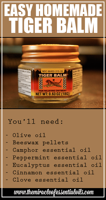 Homemade Essential Oil Tiger Balm Recipe  The Miracle of