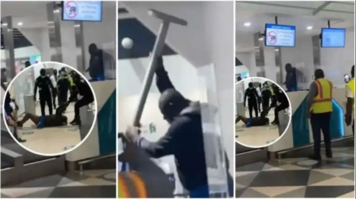 Man runs 'mad' at the airport before his plane takes off [VIDEO]